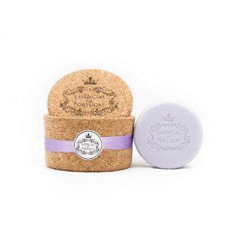 Korkdose mit 2 Stückseifen Lavendel